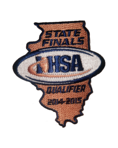 IHSA 2014-15 State Finals Qualifier Patch (State Shaped)