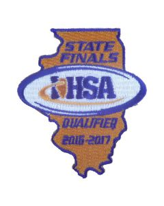 IHSA 2016-17 State Finals Qualifier Patch (State Shaped)