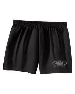 IHSA State Finals Ladies Cheer Shorts (Black w/ Grey print)