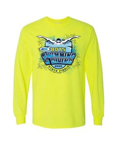 2020 IHSA Boys Swimming and Diving Long Sleeve T-Shirt