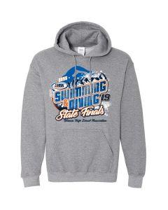 2019 IHSA Boys Swimming and Diving Hooded Sweatshirt