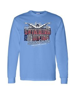 2019 IHSA Boys Swimming and Diving Long Sleeve T-Shirt