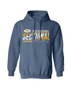 2021 IHSA Boys Volleyball Sectional Hooded Sweatshirt