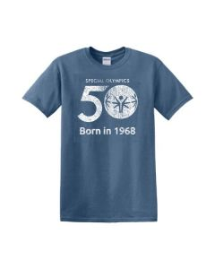 Special Olympics 50th Anniversary Heavy Cotton Distressed Tee