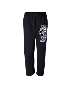 IHSA State Finals Cheer and Dance Sweatpants (Black w/ Purple Glitter)
