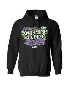 2019 IHSA Girls Swimming and Diving Hooded Sweatshirt