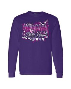 2019 IHSA Girls Swimming and Diving Long Sleeve T-Shirt