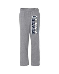 IHSA State Finals Open Bottom Sweatpants w/ Pockets (Graphite Heather w/ Navy and White Imprint)