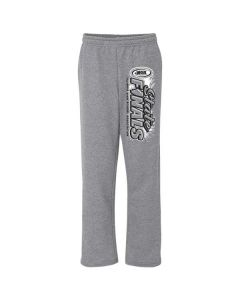 IHSA State Finals Open Bottom Sweatpants w/ Pockets (Graphite Heather w/ Black and White Imprint)