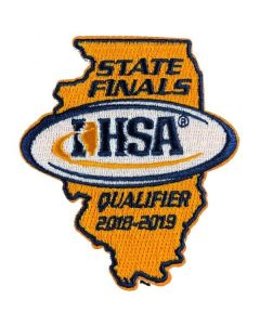 IHSA 2018-19 State Qualifier Patch (State Shaped)