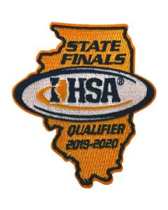 IHSA 2019-20 State Qualifier Patch (State Shaped)