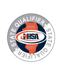 "IHSA 20-21 State Qualifier Lapel Pin 1 1/4"" Round"