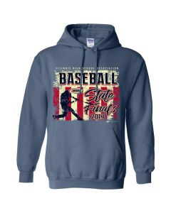 2019 IHSA Boys Baseball Hooded Sweatshirt