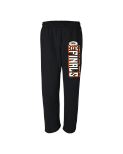 IHSA State Finals Sweatpant (Black with White and Orange Outline)