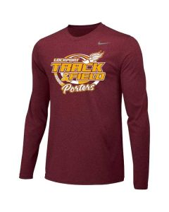 Lockport HS Track and Field Nike Long Sleeve Performance Tee