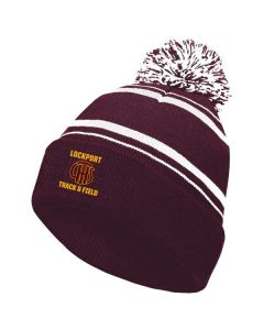 Lockport HS Track and Field Pom Beanie Stocking Hat