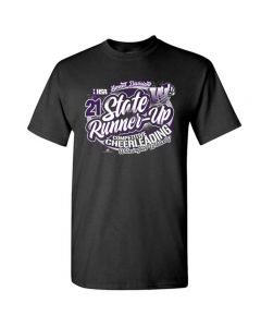 Wilmington HS State Cheer Short Sleeve Tee With Team Names On Back