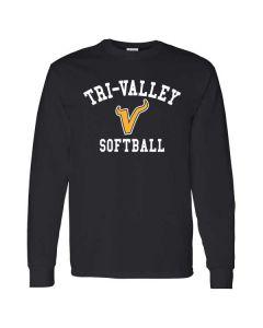 Tri-Valley MS Softball  Cotton Long Sleeve T-shirt