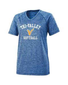 Tri-Valley MS Softball Ladies Electrify 2.0 V-Neck T-shirt