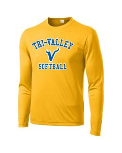 Tri-Valley MS Softball Long Sleeve Posi Charge Competitor Tee
