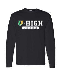 U-High Cheerleading Long Sleeve Cotton T-shirt (Design 2)