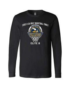 Tri-Valley MS Girls Basketball Long Sleeve Jersey T-shirt