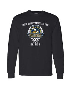 Tri-Valley MS Girls Basketball Long Sleeve Cotton T-shirt
