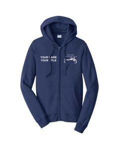 Harper College Motorcycle Safety Unisex Full Zip Hooded Sweatshirt