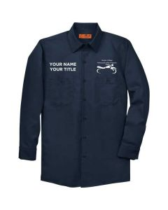 Harper College Motorcycle Safety Long Sleeve Work Shirt