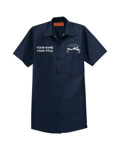 Harper College Motorcycle Safety Short Sleeve Work Shirt