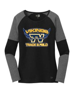 TVMS Track and Field New Era Ladies Tri-Blend Performance Baseball Tee