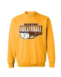Clinton HS Volleyball Crewneck Sweatshirt