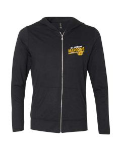 Clinton Athletic Boosters Full Zip Hooded Tee