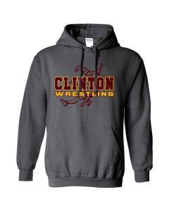 Clinton HS Wrestling Hooded Sweatshirt