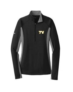 Tri-Valley HS Track and Field Ladies Stretch Contrast 1/2 Zip Pullover Sweatshirt