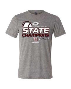 University High School Chicago Tennis Triblend T-shirt