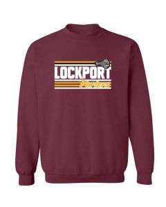 Lockport Girls Lacrosse Crewneck Sweatshirt Design 1