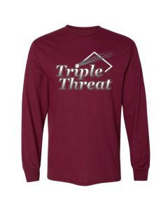 Tremont Triple Threat Softball Long Sleeve Dry Blend T-Shirt