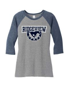 Ridgeview HS Staff Ladies Raglan 3/4 Sleeve T-shirt