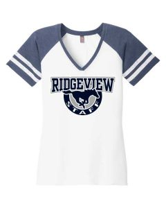 Ridgeview HS Staff Women's Game V-Neck Tee