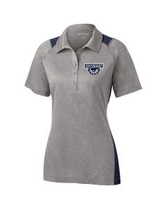 Ridgeview HS Staff Ladies Heather Colorblock Contender Polo