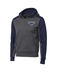 Ridgeview HS Staff Colorblock 1/4 Zip Hooded Sweatshirt