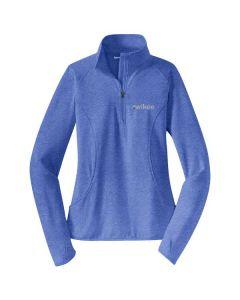 Kwikee Ladies Sport-Wick Stretch ½-zip Pullover