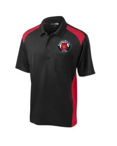 Bloomington Shriners Club Snag-Proof Two Way Colorblock Pocket Polo