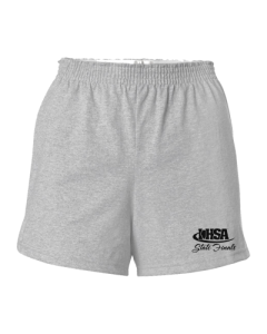 IHSA State Finals Ladies Cheer Shorts (Heather w/ Black print)
