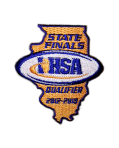IHSA 2012-13 State Finals Qualifier Patch (State Shaped)