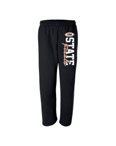 IHSA State Finals Sweatpants (Black with Orange and White print)