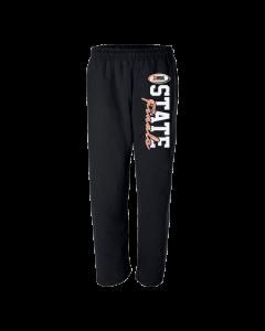 IHSA State Finals Sweatpants (Black with Orange and White print)