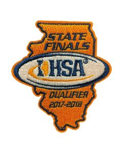IHSA 2017-18 State Finals Qualifier Patch (State Shaped)