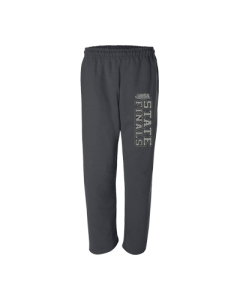 IHSA State Finals Sweatpant (Black with Silver Shimmer Imprint)